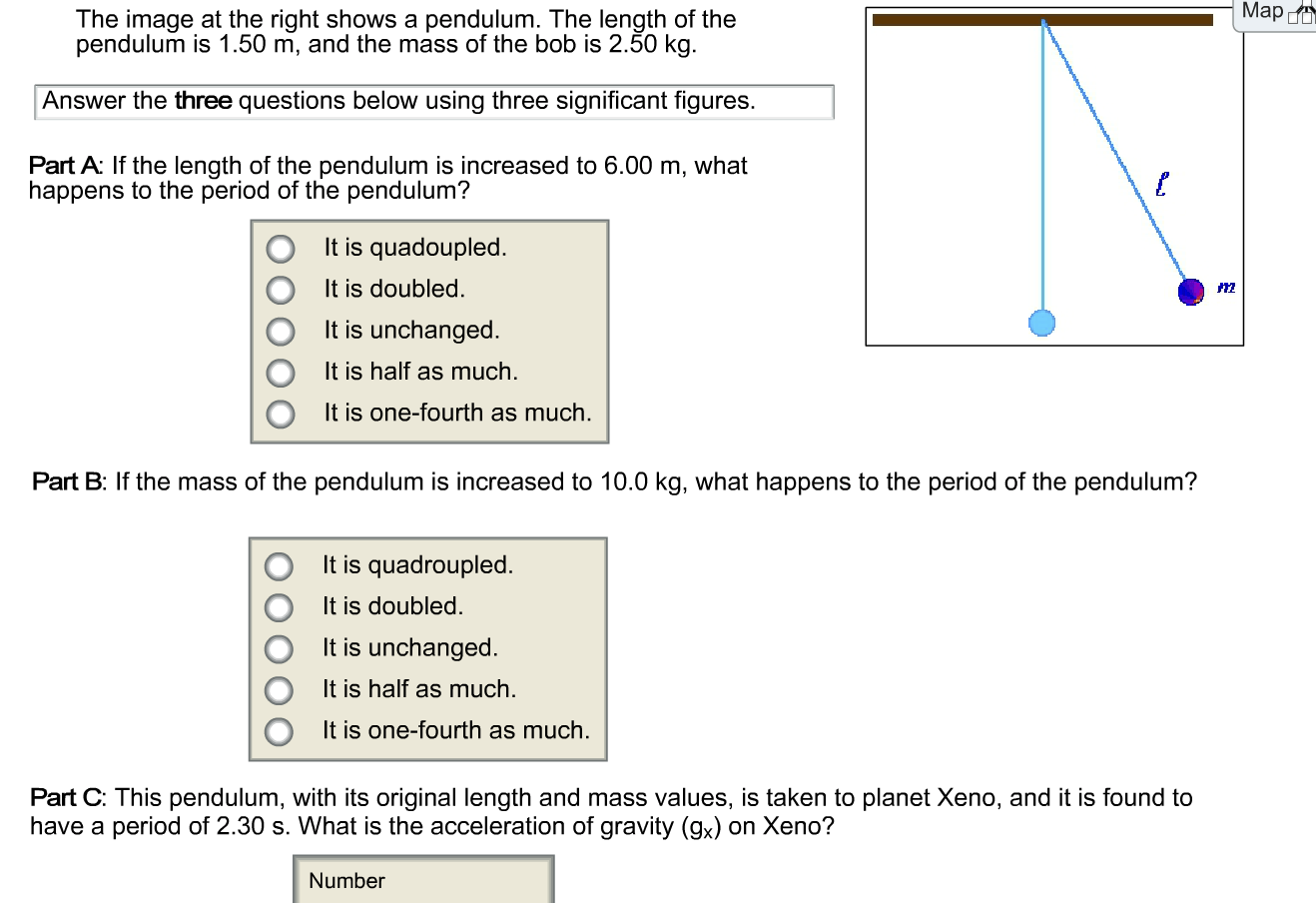 Solved If The Length Of The Pendulum Is Increased To 6 00
