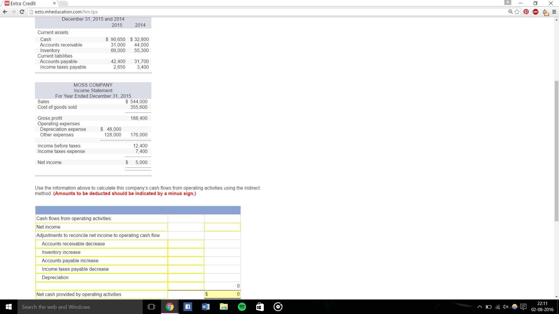 Solved Use The Information Above To Calculate This Compan
