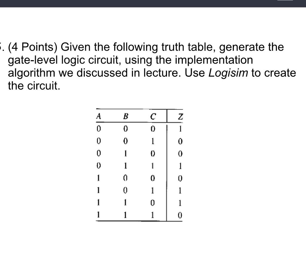 Logic Gate Truth Tables Generator