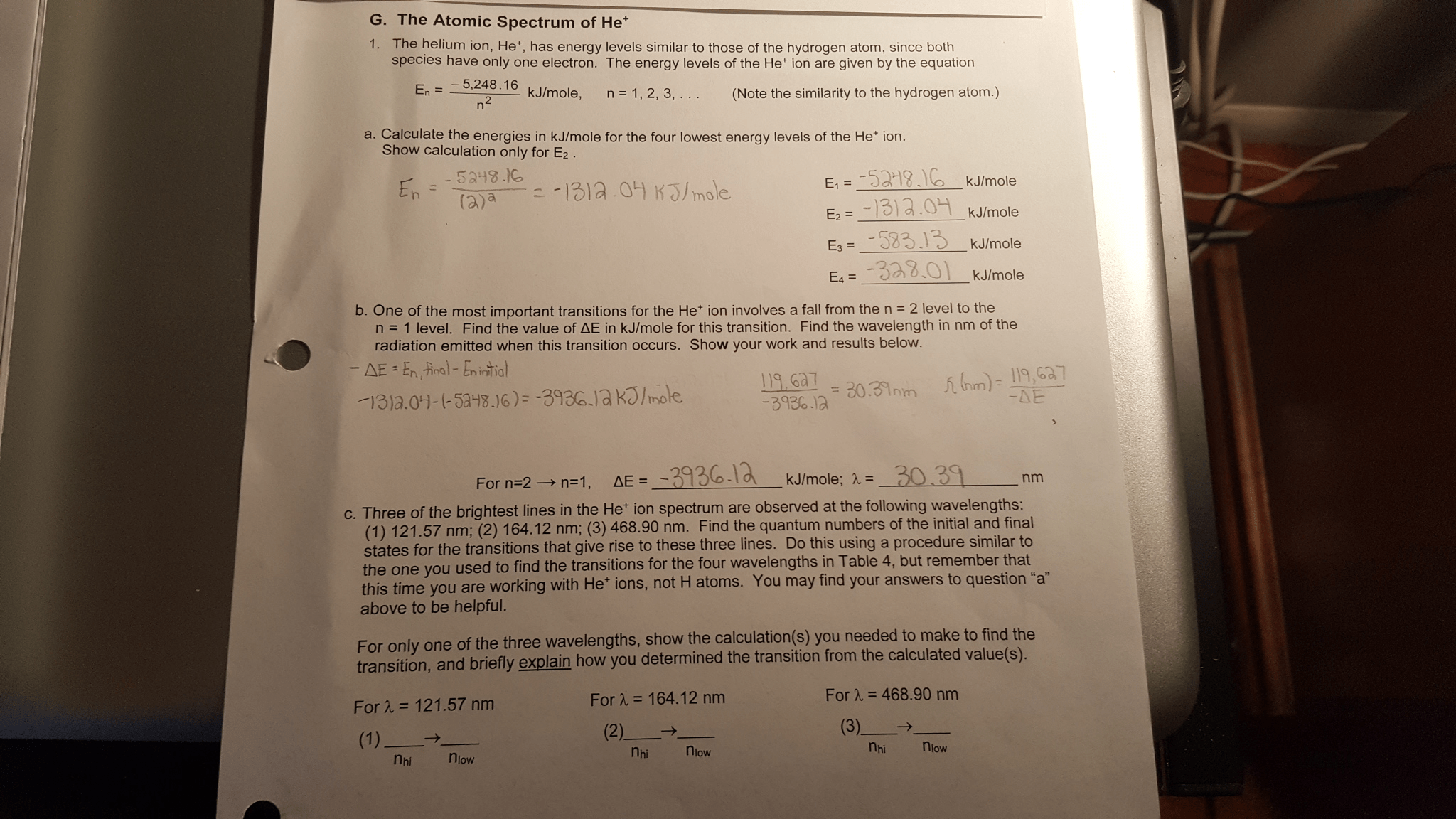 Solved Atomic Spectrum Lab Chemistry I This Is A Reupl