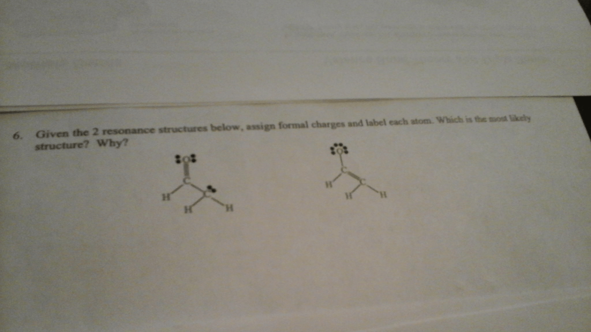 34 For The Structure Below Label Each Atom With The