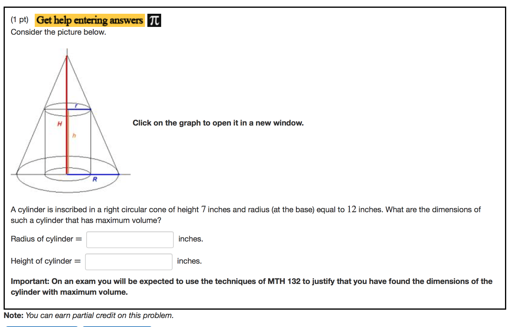 Solved A Cylinder Is Inscribed In A Right Circular Cone O