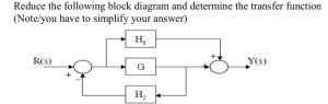 Solved: Reduce Block Diagram : Please Help Me With This Pr