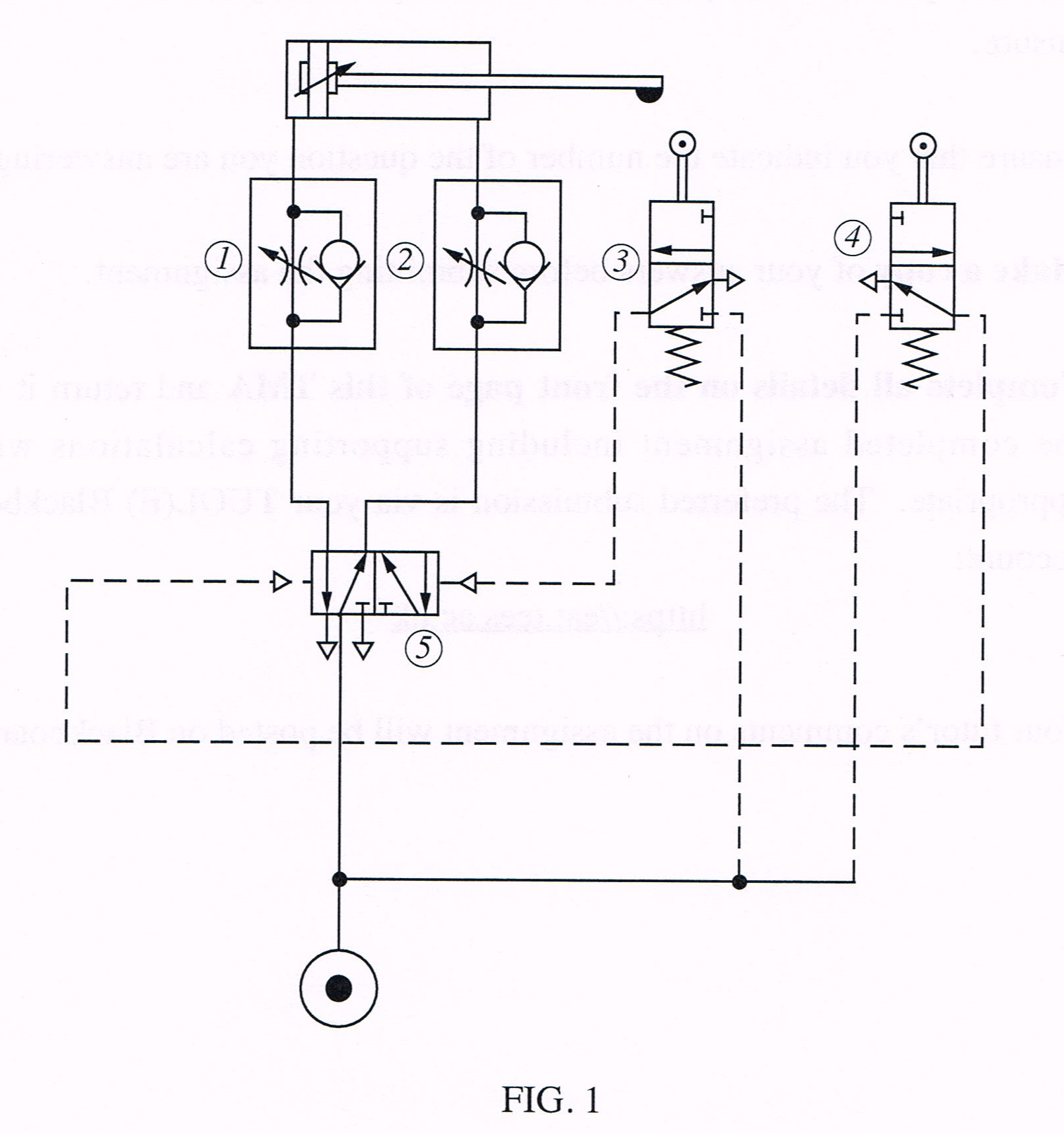 Solved Fig 1 Shows A Pneumatic Circuit Diagram Used For A
