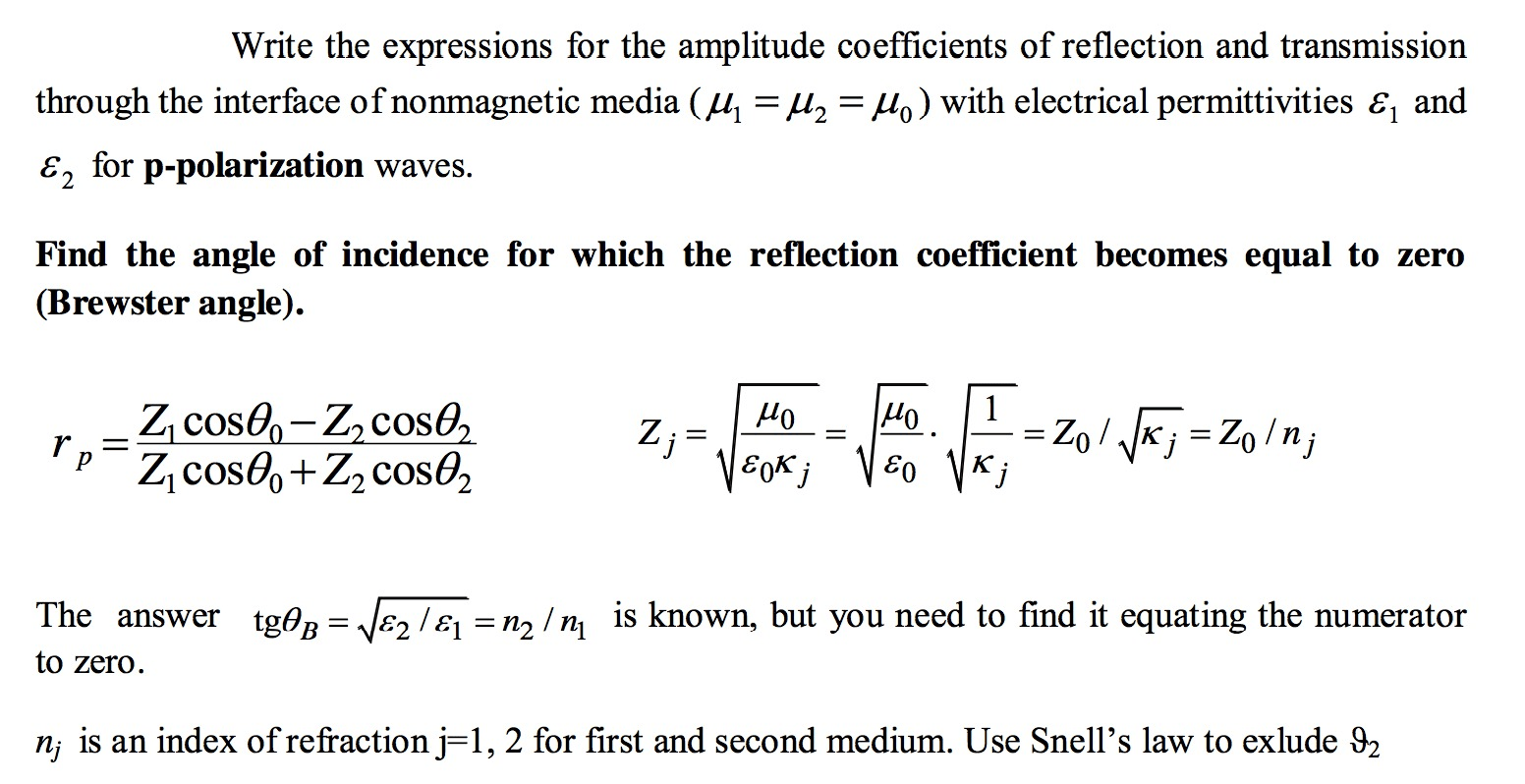 Write The Expressions For The Amplitude Coefficien