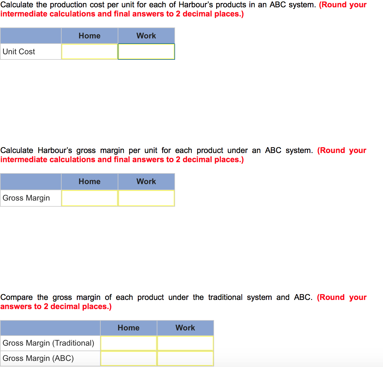 Need Help Solving Unit Cost S And Gross Margin