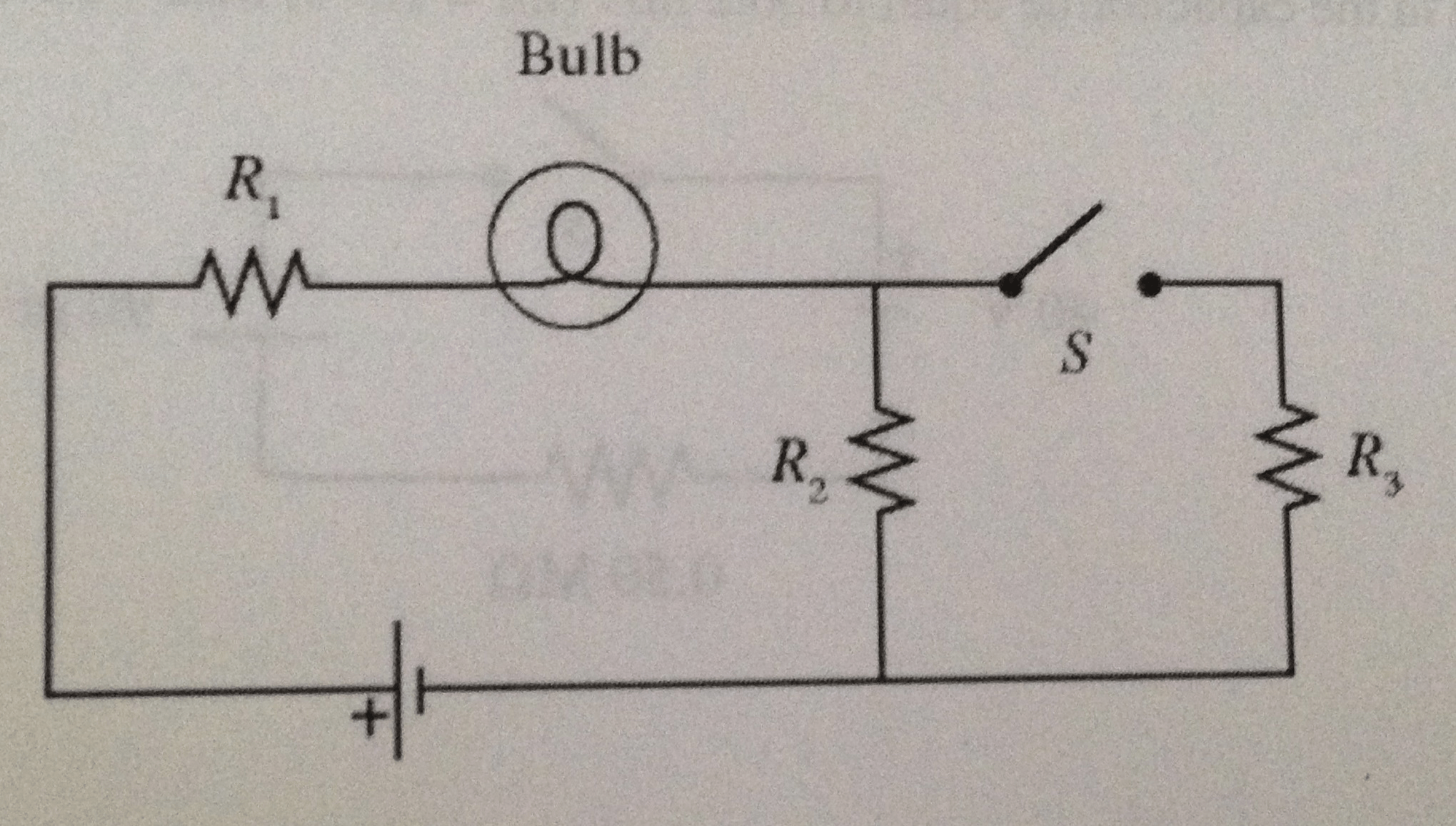 Solved A Light Bulb Is Connected In The Circuit Shown In