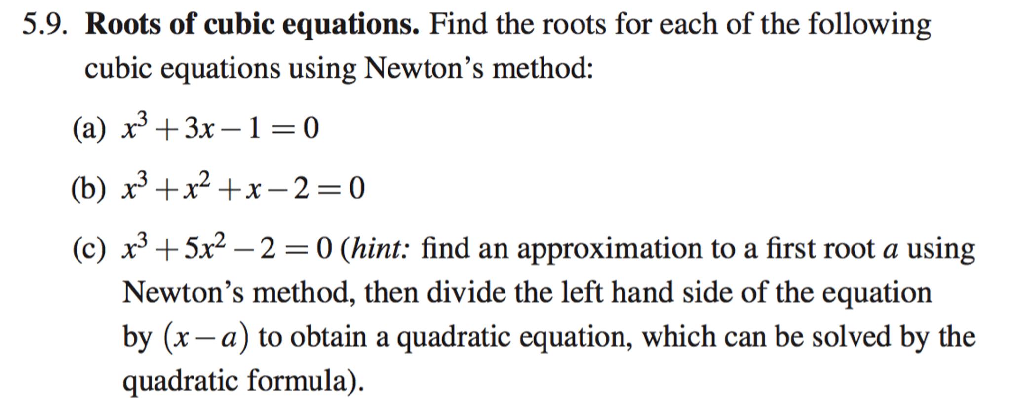 Solving Cubic Equations Quadratic Formula
