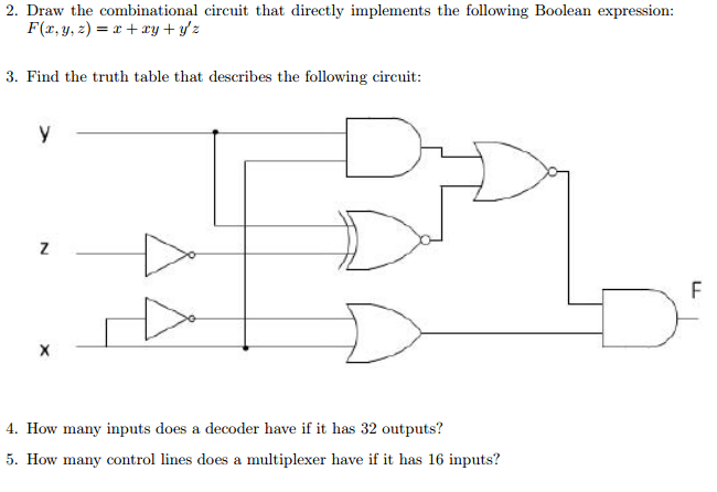 Solved: 2. Draw The Combinational Circuit That Directly Im