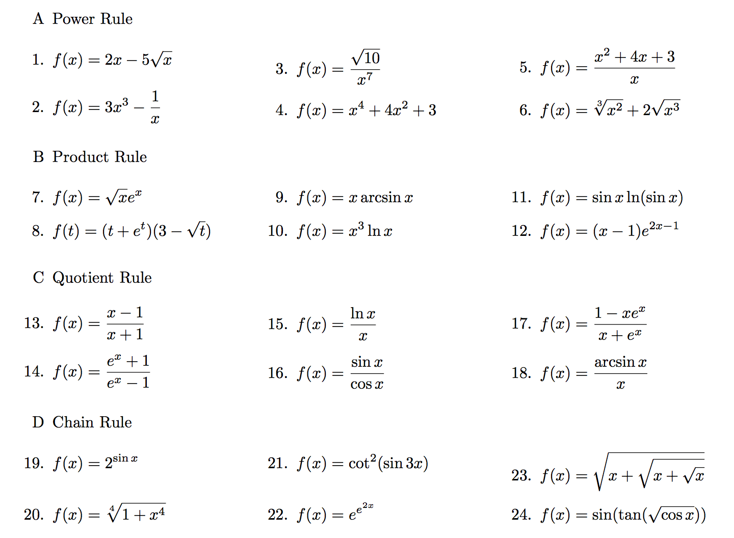 Solved Power Rule F X 2x