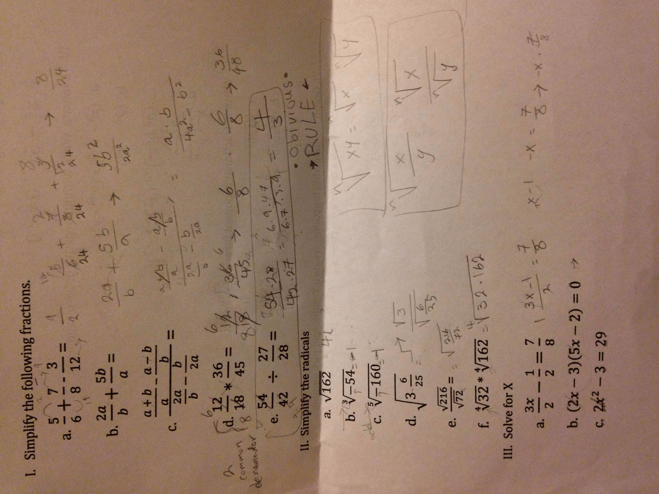 Solved I Did Some Correctly But I Need Checking And Step
