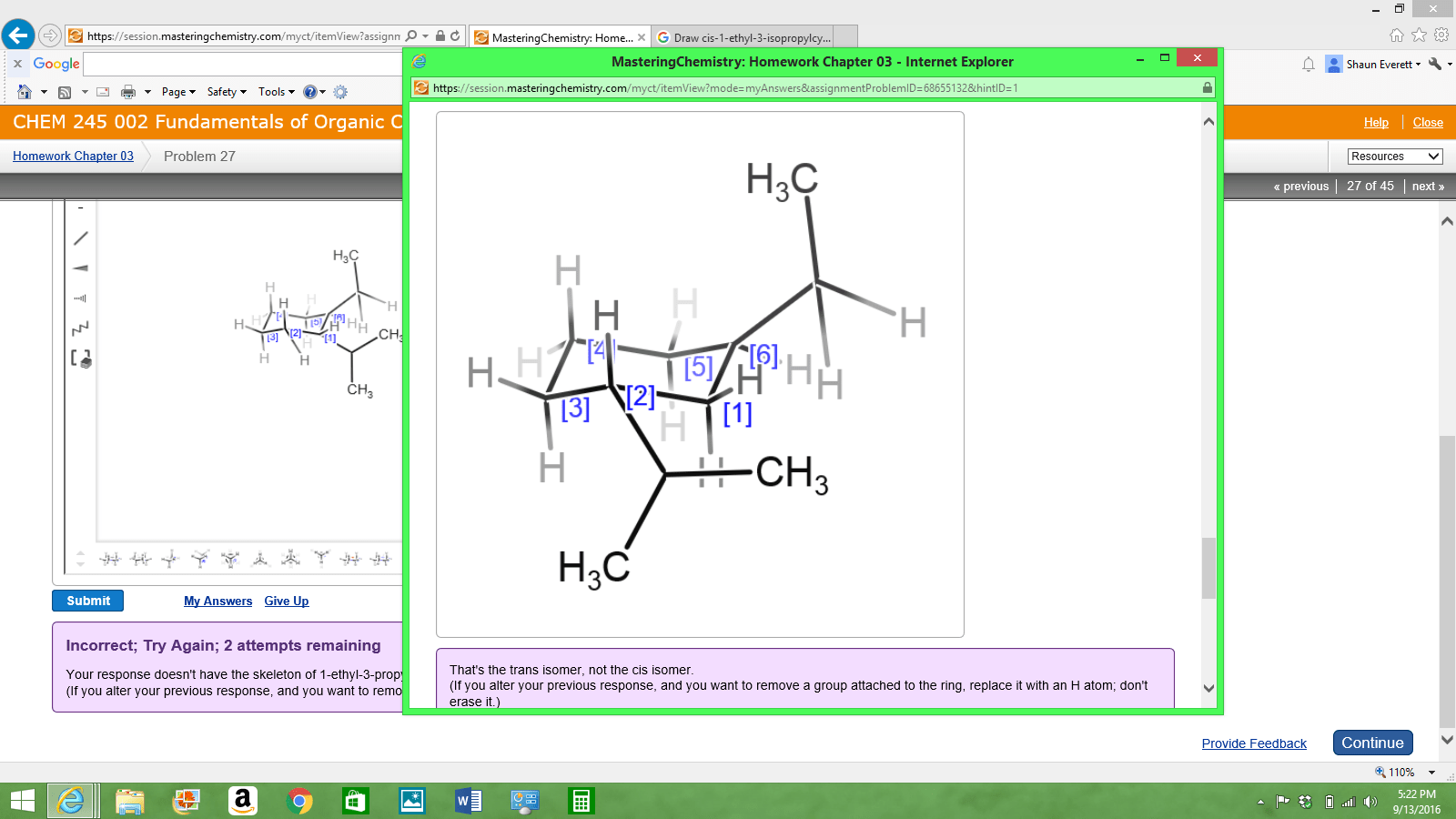 Solved This Is The Question Draw Cis 1 Ethyl 3 Isopropyl