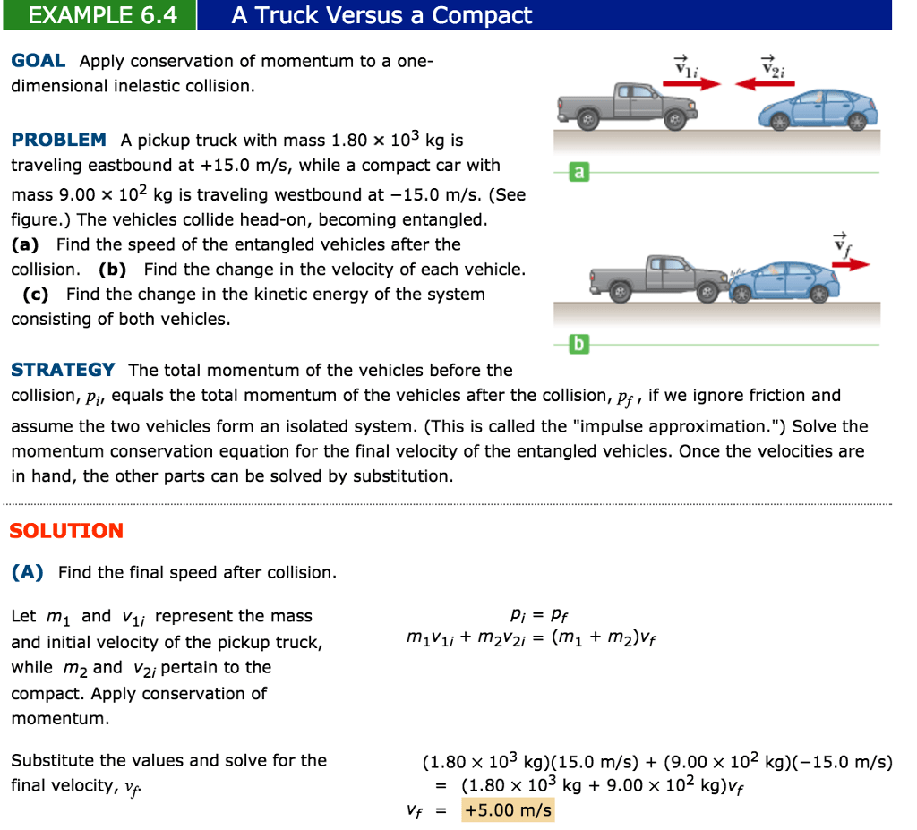 Solved A Truck Versus A Compact Goal Apply Conservation