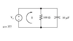 Image for Consider the circuit shown in the figure below (Figure 1) Suppose that V8 = 1150 Sq. root angle 0 degree V.