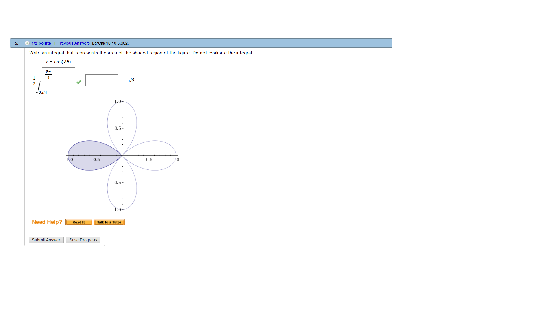 Solved Write An Integral That Represents The Area Of The