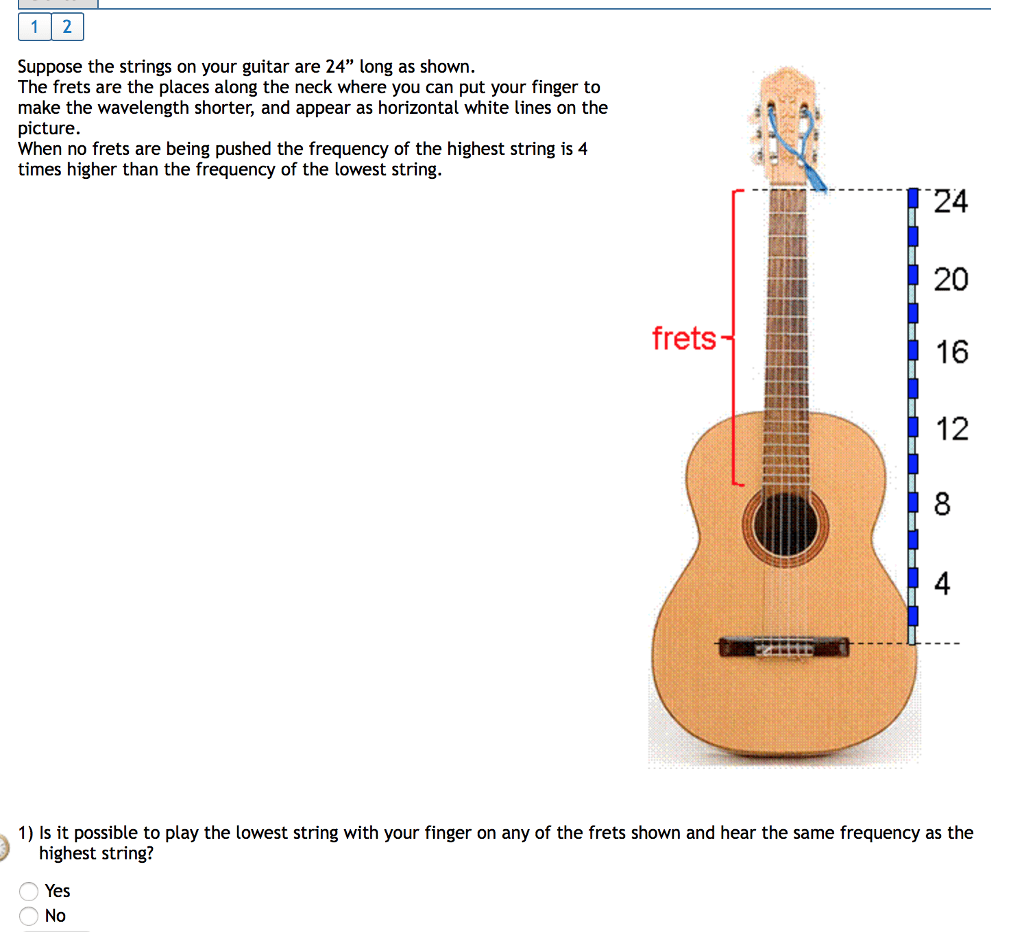 Solved Suppose The Strings On Your Guitar Are 24 Long As