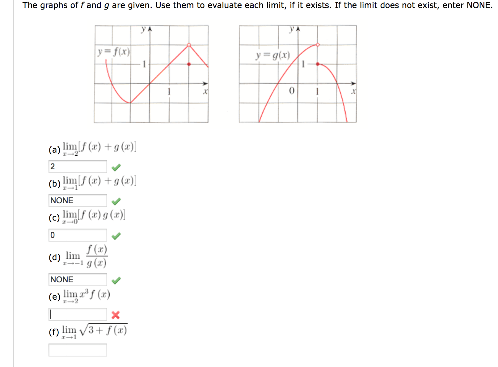 Solved The Graphs Of F And G Are Given Use Them To Evalu