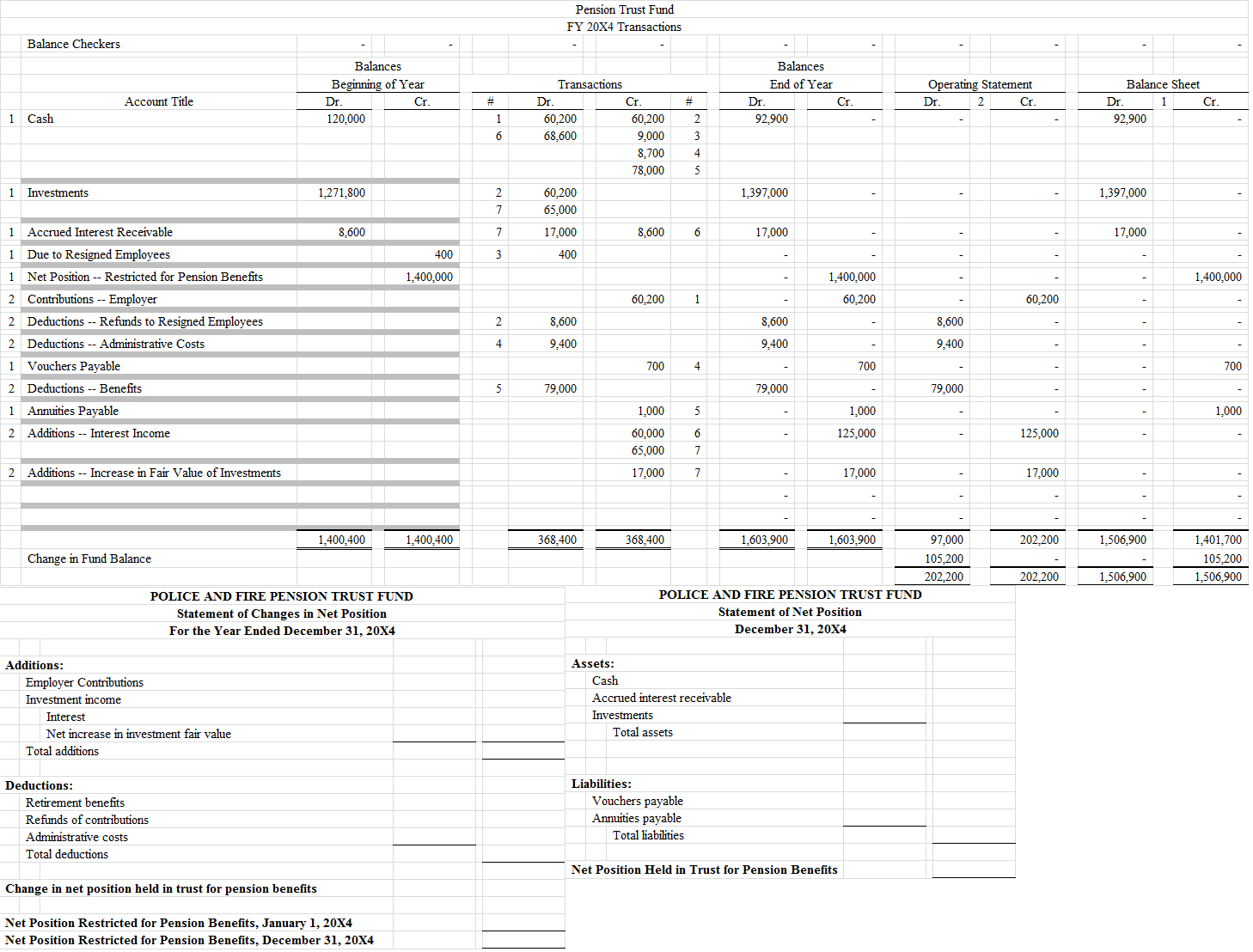 Accounting Asset Worksheet