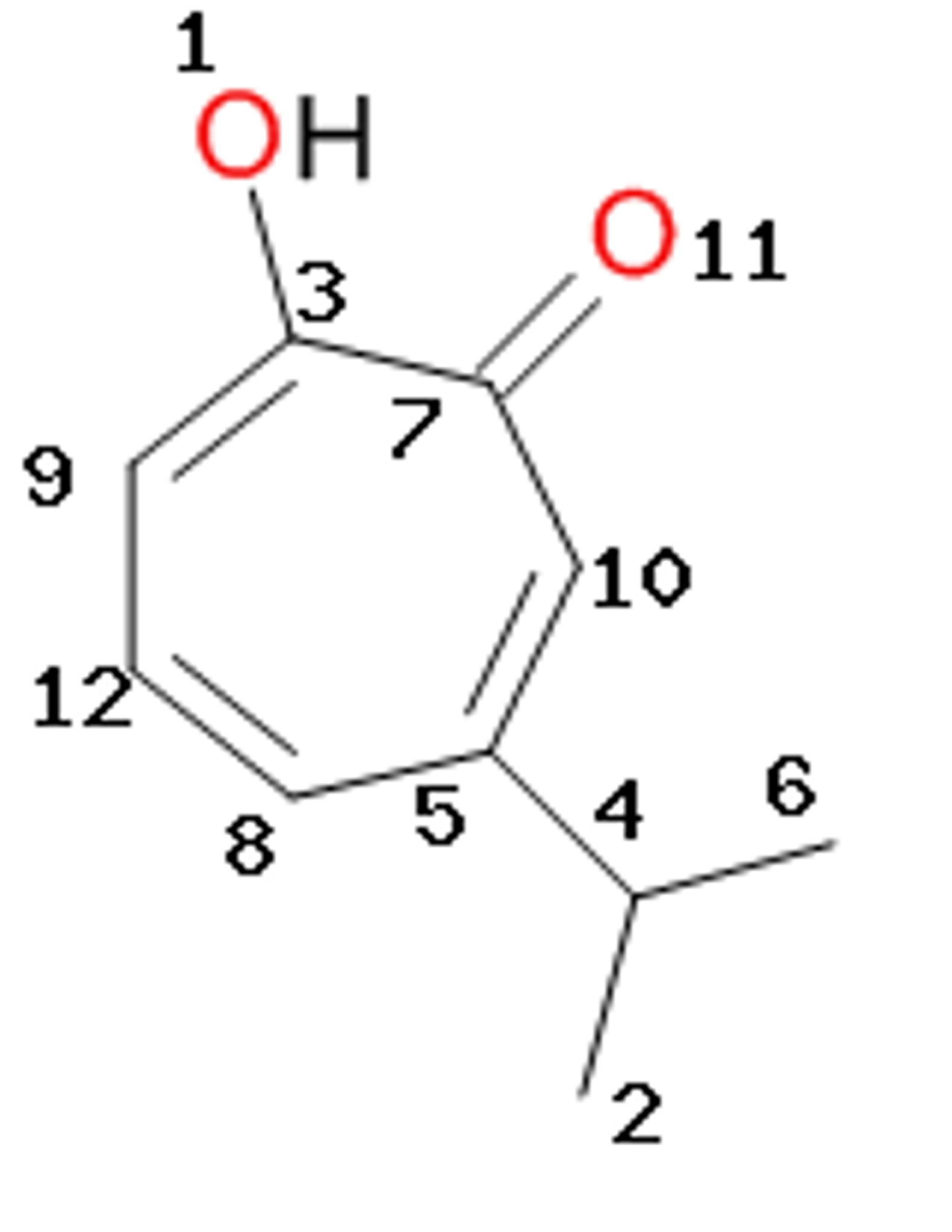 Solved The Molecular Structure Of Hinokitiol Is Represent