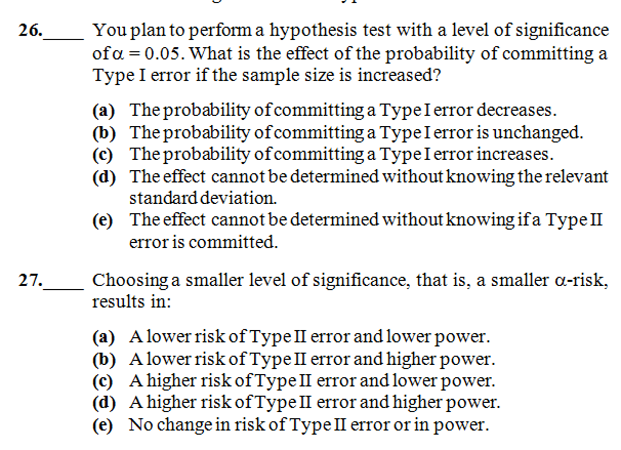 Solved You Plan To Perform A Hypothesis Test With A Level