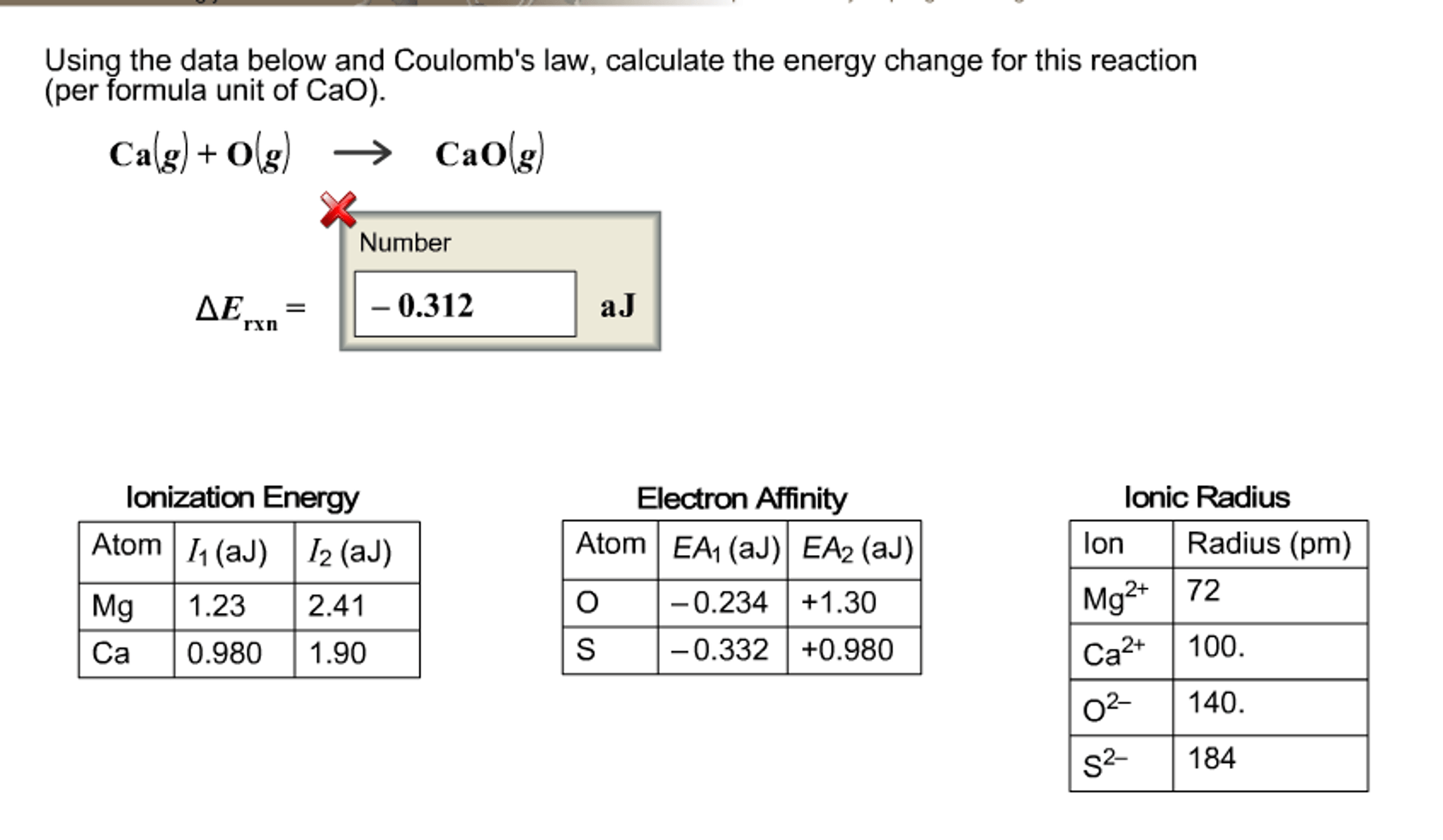 Solved Using The Data Below And Coulomb S Law Calculat