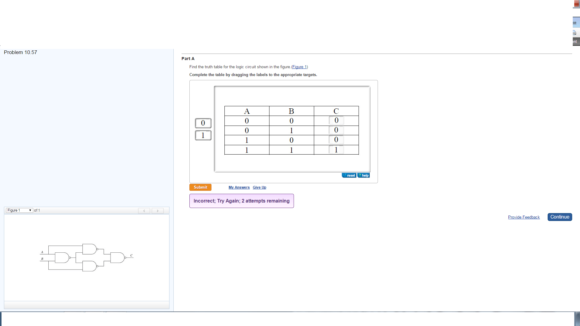Solved Find The Truth Table For The Logic Circuit Shown I
