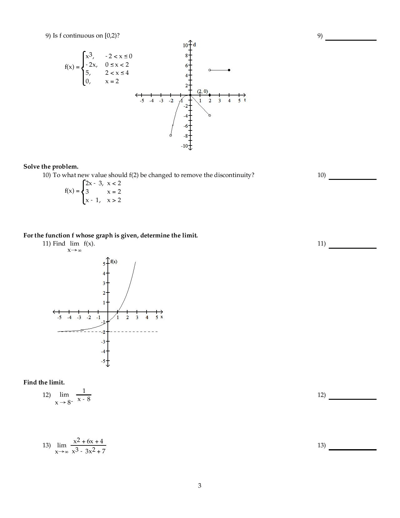 Solved Use The Graph To Evaluate The Limit Lim X Rightar