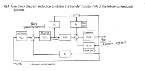 Solved: Use Block Diagram Reduction To Obtain The Transfer