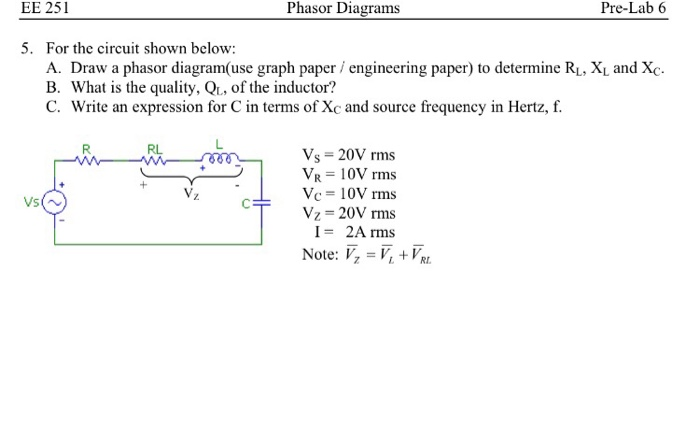 4. For The Circuit Shown Below: A. Draw A Phasor D