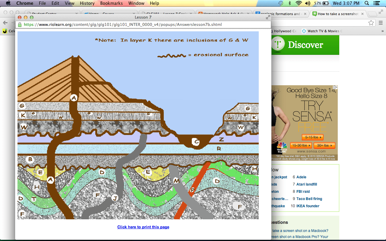 In The Attached Put The Geologic Formations And
