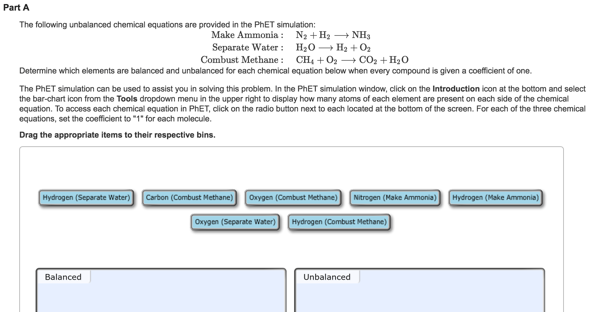 Solved The Following Unbalanced Chemical Equations Are Pr