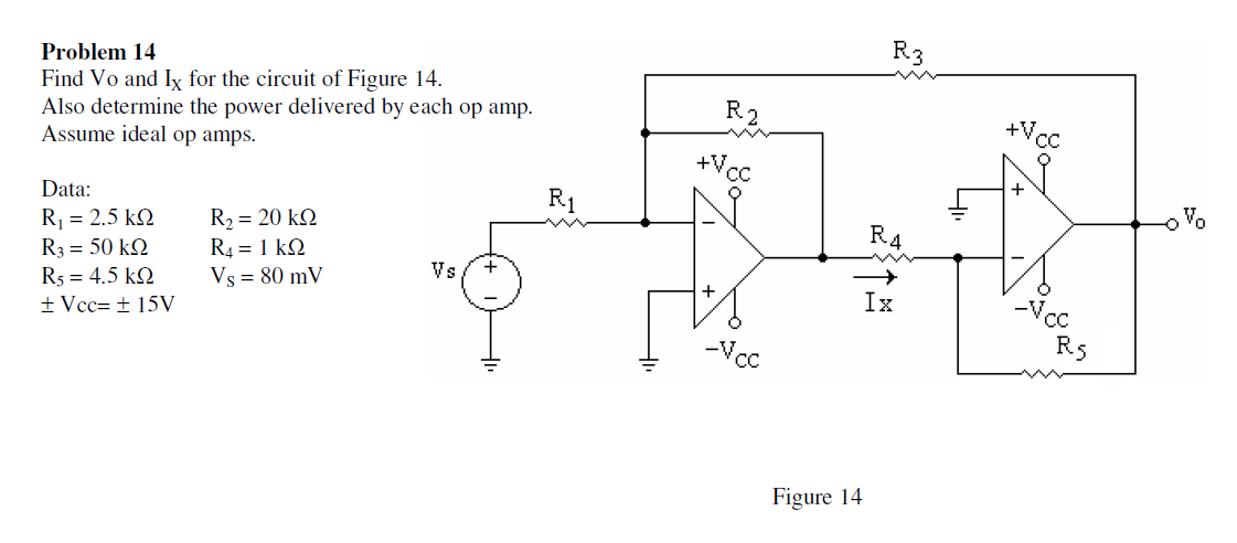 Solved: Find Vo And Ix For The Circuit Of Figure 14. Also