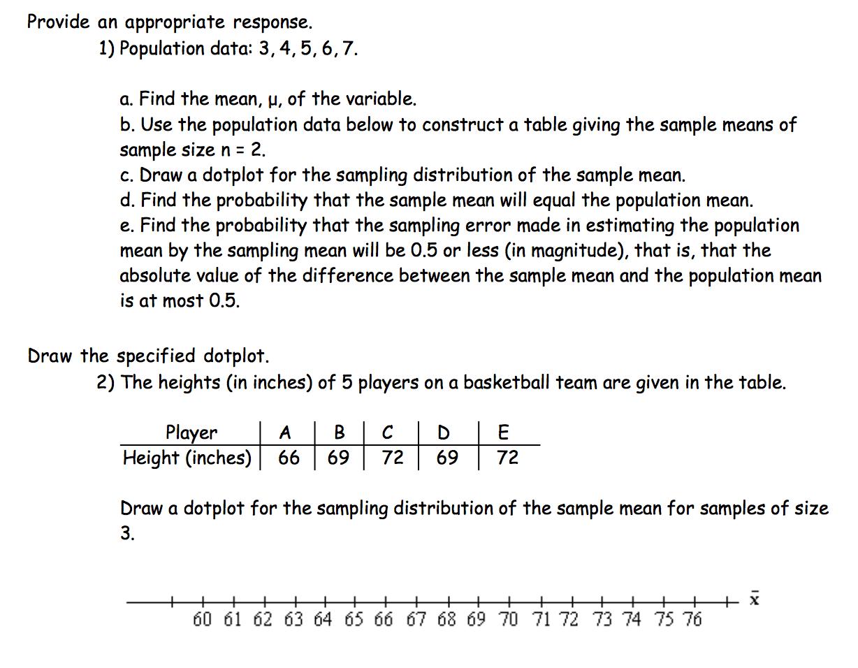 Dot Plots Worksheet Describing