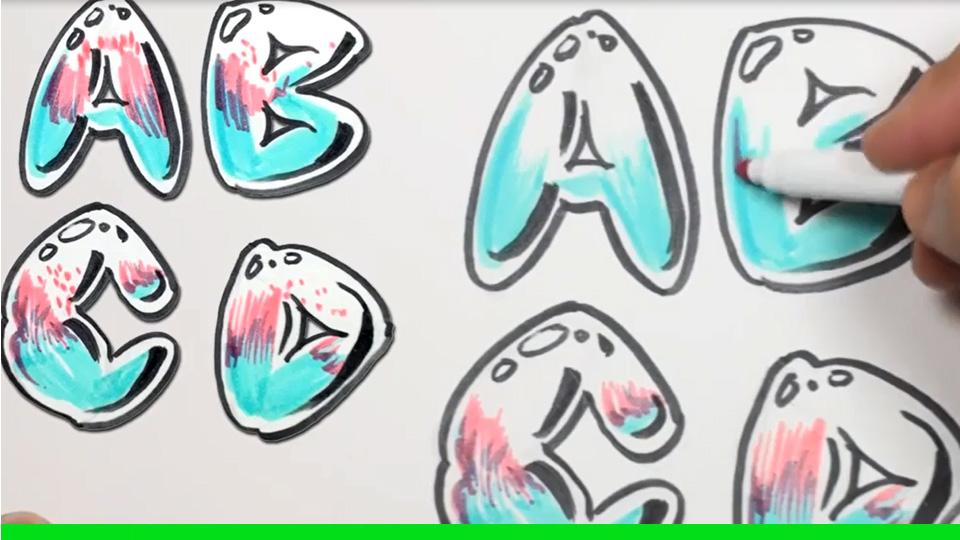 Draw Bubble Letters A Z How To Draw And Paint