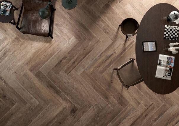 wood look porcelain tile vs wood