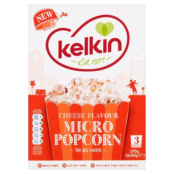 kelkin microwave cheese popcorn 90 grams
