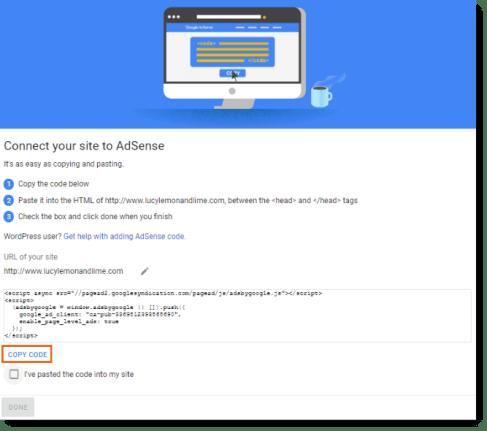 Image result for google adsense verification code