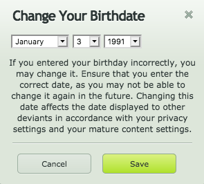 How Do I Edit My Birth Date Deviantart Help Center