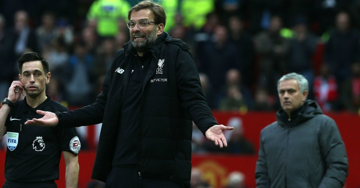 Image result for Jurgen Klopp believes Liverpool have perfect opportunity to strike back against Manchester United despite disappointing Old Trafford record  KLOPP REVEALS OLD TRAFFORD RECORD THE REASON LIVERPOOL MUST BEAT MAN UNITED Jurgen Klopp Jose Mourinho