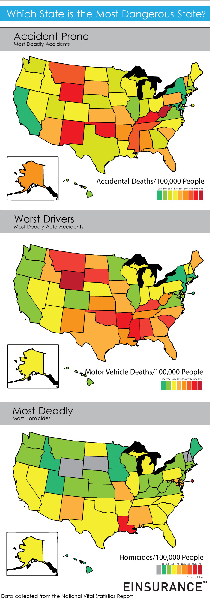 accidental death rates by state