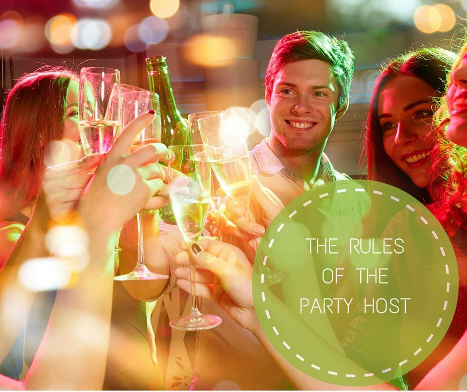 The rules of the party host