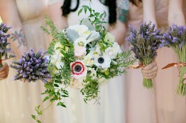 Lavender and ranunculus bouquets