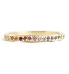 Ombre eternity band by Elisa Solomon, US$1,420, from Catbird