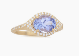 Oval 'Aladdin' tanzanite and diamond ring, US$3,950, from Jamie Wolf