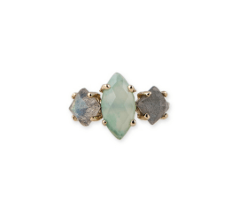 Labradorite & chrysopase ring, US$1,315, from Jacquie Aiche