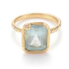 Aquamarine and diamond ring, US$1,750, from Page Sargisson