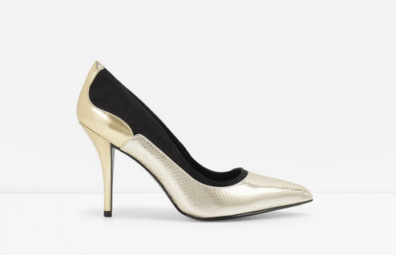 Charles and Keith duo-textued pumps, S$79.90, available at Charles and Keith