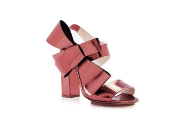Delpozo oversized bow heels, US$1,100, available at Moda Operandi