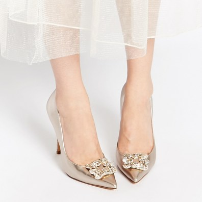 Dune Breanna champagne court shoes, S$196.21, available from ASOS