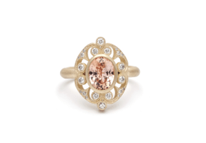 Rounded Arabesque Ring with Sapphire